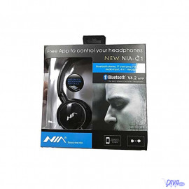 Nia NEW Casque Q1 sans fil Bluetooth V4.2 app avec micro Slot SD aux FM Radio