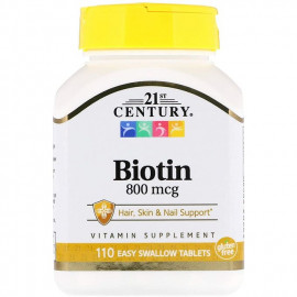 BIOTINE  110 GÉLULES  [CHEVEUX+ONGLE+PEAU] MADE IN USA, 21st Century