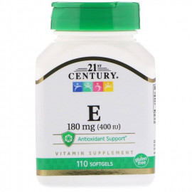 VITAMINE E, 90mg (200UI), 110 Softgels, 21st Century